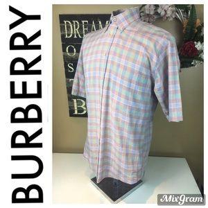 Burberry Mens Small Button Up Dress Shirt Small